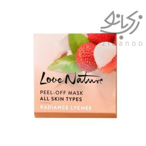Love nature peel - off mask all skin types radiance lychee code 35071